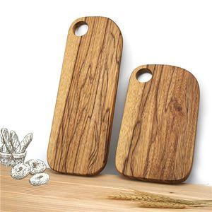 Zebra Wood Chopping Blocks Kitchen Wood Food Plate Wooden Pizza Sushi Bread Whole Wood Tray Cutting Board No Paint