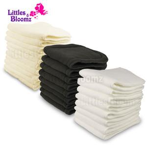 قابلة لإعادة الاستخدام للغسل الداعم بطانات لريال الجيب القماش الحفاض غطاء حفاظه التفاف مجهرية الخيزران الفحم إدراجات