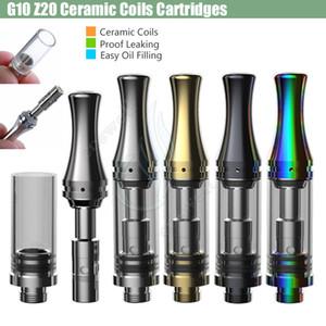 الأصلي Z20 السيراميك لفائف خراطيش VAPE Z202 Z203 بيركس زجاج خزان CE3 G10 ZW23 ZW36 ZW58 قوس قزح برميل سميكة النفط مبخر البخاخة البخاخة