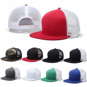 유행 Unisex 야구 모자 Trucker Hat 빈 곡선 된 모자 메쉬 조정 가능한 일반 색 모자 최고 품질
