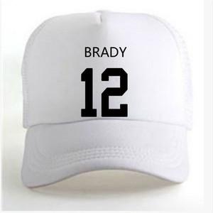 United States New England Tom Brady 12 men Casual youth student boy wild custom made name number photo Unisex Advertising baseball caps