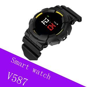 Intelligente braccialetto V587 frequenza cardiaca pressione sanguigna orologio sportivo Fitness Tracker intelligente Wristband Pedometro Smart band per iOS Android
