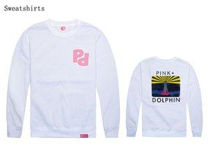 Großhandel Südküste rosa Delphin Männer und Frauen Hip Hop Hoody lose für Street Dance Wear Hip Hop Sweatshirt