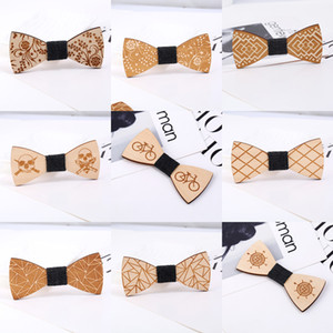 2018 أزياء الرجال عنق الخشب زفاف الشركة القوس التعادل مدينة جديدة أفق خشبي فراشة دعوى قميص ربطة منحوتة التبعي العلاقات