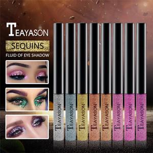 TEAYASON Glitter Flüssige Eyeshadow Makeup Eyeliner Eyeliner Bleistifte Glänzende Langlebige Schimmer Lidschatten Kosmetik Schönheit Bilden 15 Farben