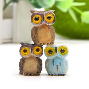 Jardim de fadas Em Miniatura bonito Coruja 3 cores opcionais artificiais mini corujas decorações resina artesanato bonsai decorações de Páscoa Coelhinho