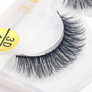 Günstige Wimpernverlängerung 3D handgemachte Wimpern synthetische Artificial Mink falsch Mink Wimpern Lash Verlängerung für die täglichen Gebrauch