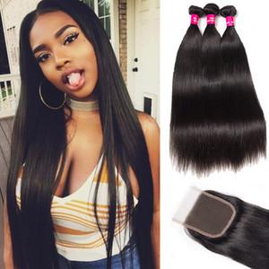 3 пучка бразильских человеческих волос плетет малайзийский Индийский перуанский прямой волны тела свободные волны девственные волосы класса 8A бразильский волос закрытия