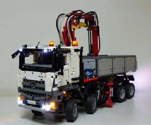 42043 için LED aydınlatma kiti (sadece lamba dahil), LEPIN 20005 teknik serisi ile uyumlu Arocs 3245 kamyon