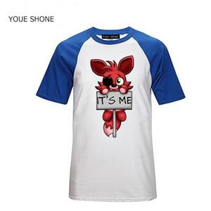 Moda sono io Kawaii FNAF Peluche Foxy T-Shirt da Uomo Hip Hop T-Shirt in Cotone O-Collo Bambini bambini Marca manica corta tee pullover Polo