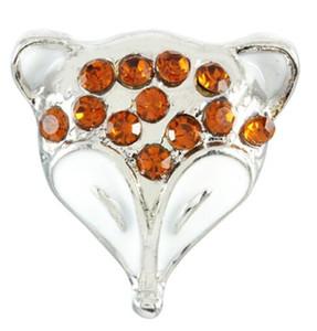 20pcs lot hot sale diy jewelry new Crystal fox watches women charm rhinestone bracelet&bangle Metal 18mm snap button jewelry pression