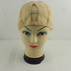 Freeshipping-Mitte u Teil Glueless volle spinnende Perückenbasiskappennetzmasche innerhalb der inneren Perücke machen Haarverlängerungsschuß mittel