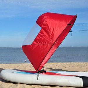 "42 ""Kayak Boat Wind Paddle Kit da vela Popup Board Sail Rowing Sottovento Boat Windpaddle con Clear Window Accessori Kayak"