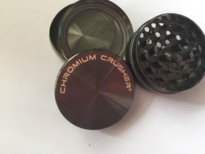 Le plus nouveau broyeur de tabac de broyeur de chrome de 40mm pour l'herbe zicn alliage fumant le broyeur de métal broyeurs de fines herbes de tabac