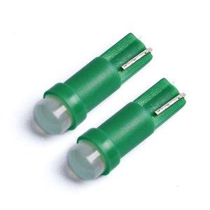 100PCS 자동차 실내 T5는 1 SMD DC 12V 빛 세라믹 대시 보드 장비 세라믹 자동차 자동차 사이드 웨지 라이트 램프 전구 게이지지도