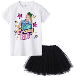 1Y a 12Y Jojo Siwa Girl Summer Set de ropa Ropa de moda para niños Traje Tops + Tutu Falda Vestido 2 Unids Roupas Infantis Menina Y1892707