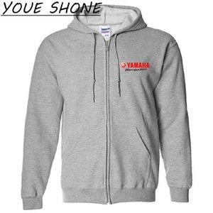 Diseño de la marca YAMAHA Revs Your Heart Sudaderas con capucha Sudaderas con capucha de los hombres chaqueta con capucha abrigos cortavientos de algodón Fleece Men Basic Pullover