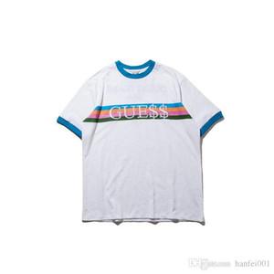 Amaçlı Tur T-Shirt Kadın Erkek Tişört GUE $$ KAYA Tee Erkek Kadın Aşıklar En Rahat Kısa Kollu T Shirt Beyaz Fragmentler Tshirt HFLSTX038