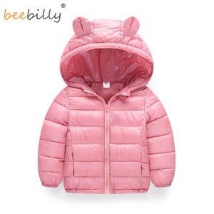 BEEBILLY Mädchen Winter Jacken Jungen Cartoon Stil Mädchen Mode Oberbekleidung Baby Mädchen Kleidung Mit Kapuze Jacke für Mädchen Baumwolle Parkas