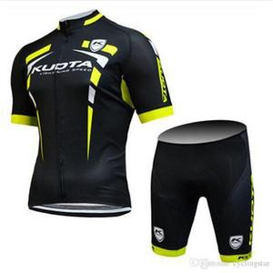 2018 KUOTA Team ciclismo jersey ciclismo ropa hombres bicicleta desgaste + babero / pantalones cortos traje de verano MTB Bicicleta Ropa deportiva transpirable 82311Y