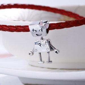 2018 encantos primavera real auténtica plata de ley 925 sin platear Bella Robot Cuentas Europeo Fit Pandora pulsera DIY joyería