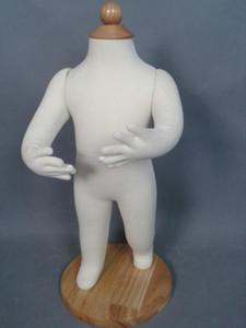 Venta al por mayor 53 cm apoyos de software de modelado del bebé, modelo de cuerpo entero de niños de algodón blanco realista maniquí de costura decorativa puede pin C408