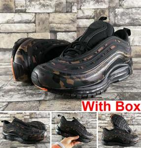 97 QS Country Camo OG Tripel Blanco Metalizado Oro Plata Bullet WHITE 3M Premium Zapatos para correr con caja Hombre Mujer Envío gratis