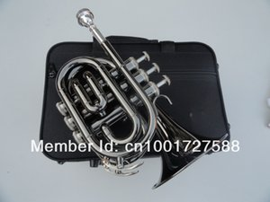 Spedizione veloce OVES Bb Pocket Trumpet B Flat Musical Instrument Professional Trumpet Black Nickel Plated Surface