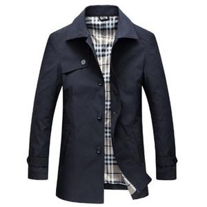 Tangcool 2018 Bahar Slim Fit Uzun Palto Erkekler İngiliz Tarzı Iş Dış Giyim Yüksek Kalite Klasik Rüzgarlık Siper