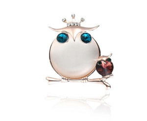 Cute Animal owl Brooch Shirt Denim Jacket Decor Party Prom Mujeres Hombres Accesorios
