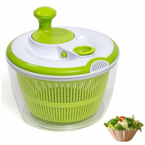 Multifunction Jumbo 4.5 Quart Salad Spinner Manual Good Grips Vegetables Dryer Dry Off Drain Quick Filter Lettuce Spinner Green Y18110204