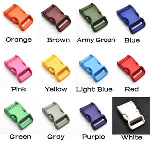 """60pcs / lot 1 """"colore misto plastica curvo rilascio laterale fibbie cinghie zaino cinghie 26mm accessori hardware"""
