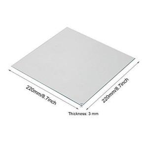 Borde de borosilicato transparente Calentador de vidrio 220x220x3mm para impresoras 3D Anet A8 A6 Reprap Accesorios para impresoras 3d