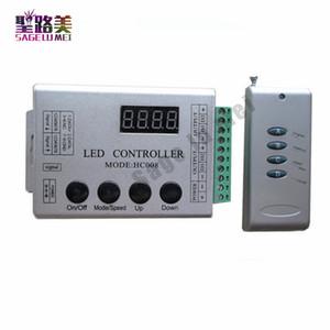 Livraison gratuite DC12V 4Keys HC008 rgb programmable contrôleur de pixels, contrôle RF 2048 pixels, 133 modes d'effet contrôleur ws2811