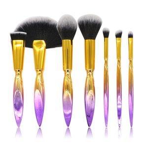 Nuovo 7Pcs / set Pennelli trucco di colore sfumato Fondotinta Eyedshadow Eyelashes Concealer Blush Make Up Pennelli Maquiagem