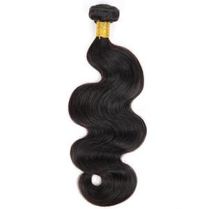 Um Bundle onda do corpo Duplo Cabelo extensões do cabelo Virgin Brasileira Natural Preto 7A Raw Grade Humano trama não transformados Cabelo Weave Atacado