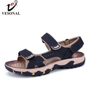 VESONAL Chegada nova moda casual sandálias Masculino confortável no pé da sandália de Calçados Masculinos Adulto Verão Adolescente