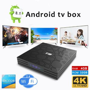 T9 TV Box Android 8.1 Tv Box Quad Core 4GB 32GB RK3328 2.4G Wifi H.265 with Led Displayer
