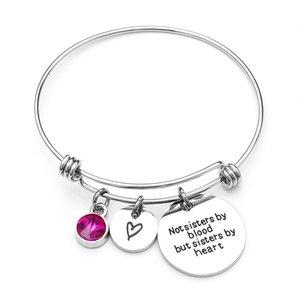 Mode Nouveau Réglable Charme Bracelets Bracelet En Acier Inoxydable Cristal Cubique Zircon Sculpture Tag Charmes Bracelet En Gros