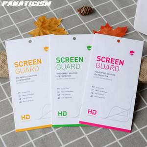 Застрелевший стеклянный экран протектор универсальный картон розничная упаковка для iPhone 12 11 XR XS Samsung S21 S20 S10 S9 Huawei Xiaomi Box пакет