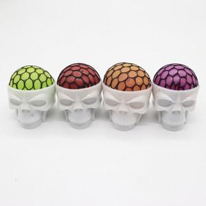 성격 메쉬 Squishy 공 크리 에이 티브 TPR 해골 머리 모양 짜기 장난감 Halloween Tricky Toys Gift 1 8xt BB