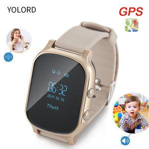 YOLORD Accurate GPS Multi Positioning Anti Lost Safe Security Monitor remoto SOS Chiamata Smart Watch Bambini studenti Anziani