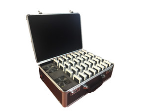 Paquete 32 (2 transmisores + 30 reiceiver + 1 maletín de 32 ranuras) Sistema de guía de audio para el sistema de guía de viaje inalámbrico inalámbrico