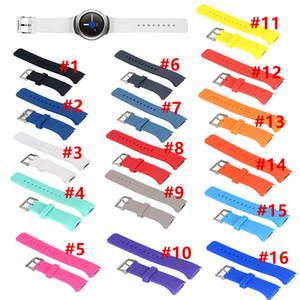 Samsung Galaxy için 16 Renkler Silikon Watchband Dişli S2 R720 R730 Band Kayışı Spor İzle Yedek Bilezik SM-R720