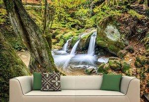 Пользовательские фото обои фрески 3D живописный лес настенная роспись стены домашнего интерьера украшения стены бумаги