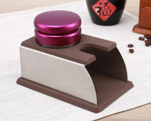 مثالية للسيليكون اسبرسو العبث حامل دعم و Bardian قاعدة حامل التعامل مع القهوة السوداء الفولاذ المقاوم للصدأ حصيرة ثابت دائم دد 20jf