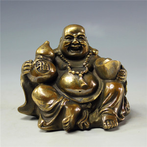 Fengshui Laughing Buddha Statues, Seiko Handmade Buddha Artworks, Maitreya Figurines Laughing Buddha Sculptures Decoraciones de escritorio