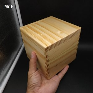Wooden Color 13 cm Magic Box Puzzle With Special Mechanism Game Brain Teaser Toy Wood Box Collection