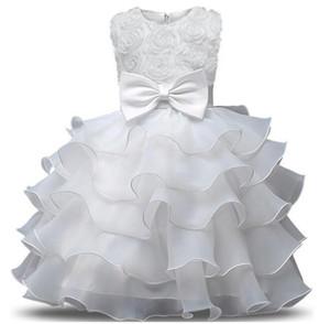 Çiçek Kız Elbise Düğün İçin Bebek Kız 0-10 Yıl Doğum Günü Kıyafetleri çocuk Kız İlk Communion elbise Kız Çocuklar Parti Balo