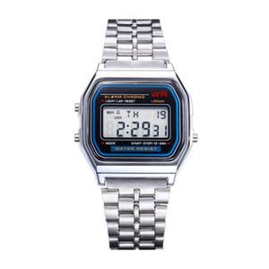 2018 Yeni Sıcak Satış İşlevli WR F91W Moda Saatler metal kordonlu Saat LED Değişim Izle Spor A159W Öğrenci Çocuklar Için Izle